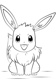 Small Picture Eevee Pokemon coloring page Free Printable Coloring Pages