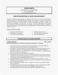 Marketing Manager Resume Inspirational Sales Executive Resume
