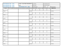 Delivery Manifest Template Get A Personalized Delivery Manifest Form