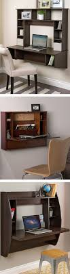 wall office desk. floating wall mount desk uses chair that is already in use for kitchen so one less and more space available living office i