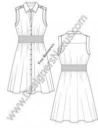 Sketching Clothing Free Fashion Downloads Illustrator Dress Flat Sketches