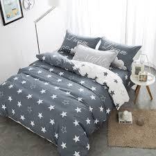 grey star duvet cover