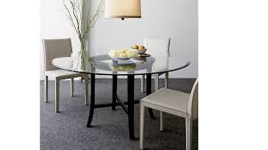 halo ebony round dining table with 42 glass top reviews crate and barrel