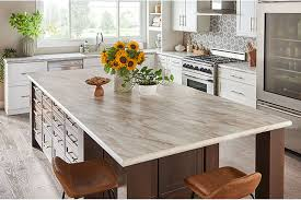 a wilsonart soft silk laminate countertop in drama marble shows how the look of laminate has