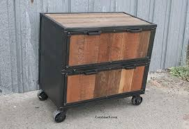 reclaimed wood file cabinet. Industrial File Cabinet Reclaimed Wood And Steel To