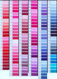 Dmc Colour Chart Download Dmc Color Chart Dmc Rosace Color Card