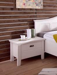 Nachttisch Cassa 57x46x45 Cm Pinie Weiß Nachtkonsole Nachtkommode