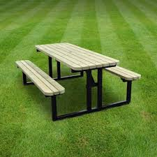 tinwell steel rounded picnic bench 6ft