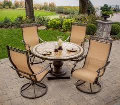 outdoor patio swivel rocker chairs. hanover monaco 5-piece outdoor dining set with high-back swivel rocker chairs patio