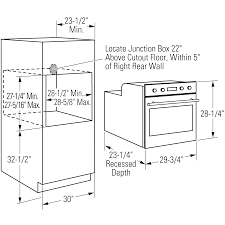 best wall oven width for 27 inch ovens 17575