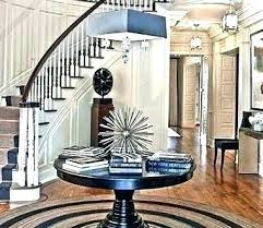 foyer round table entry contemporary modern with height entryway console foye entry table