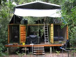 This jungle base-camp is made from materials that will do just that   modified containers. modified container ideas