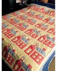 Winter Sale: Zarposh India School House Hand Quilted Patchwork Quilt & Zarposh India School House Hand Quilted Patchwork Quilt.