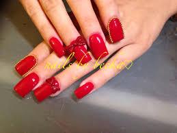 3d bow nails, coffin nails , acrylic nail art | Nails by Becka ...