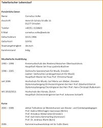 12 Tabellarischer Lebenslauf Word Resignation Format
