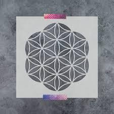 imagination sacred geometry rug flower of life stencil reusable diy craft