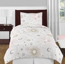 celestial pink gold bedding set 4 piece twin size by sweet jojo designs