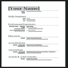 020 Check Box Resume Template Modern Microsoft Word Templates Ms Cv