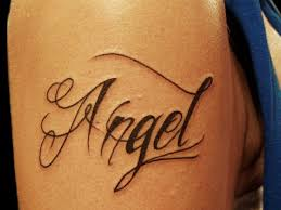 word tattoo designs. Simple Designs Angel Word Tattoo Design For Designs S
