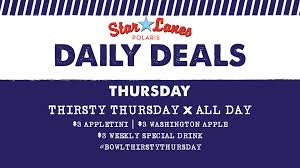 daily deals thursday thirsty thursday all day