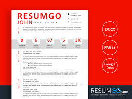 Google Doc Resume Template Modern Paris Modern Resume Template With Numbers Resumgo Com