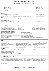 Modeling Resume 2424 Resume Modeling Leterformat 11