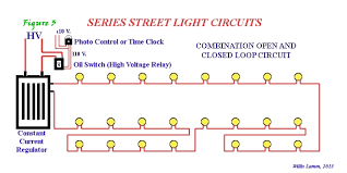 understanding series street light systems as illustrated in figure 4 inventors even designed a means to provide lower intensity lighting for alleys traffic beacons and similar uses by installing