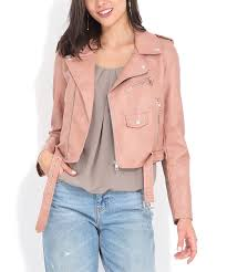all gone pink marion faux leather jacket women