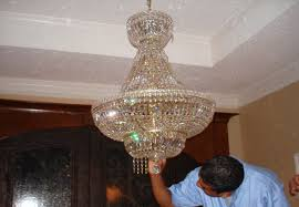 we hand clean everything piece by piece we do not use any chemicals which might be bad for your health or bad for your chandeliers