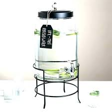 glass drink dispenser glass drink dispenser with metal spigot 3 gallon style setter beverage stand stainless glass drink dispenser