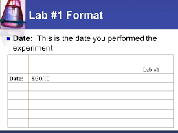 Lab Notebook Format Chemistry Laboratory Notebook Format Ppt Video Online