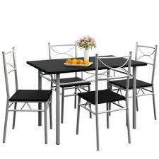 1 Ensemble Table En Bois 4 Chaises Couleur Marron Set De 1 Table
