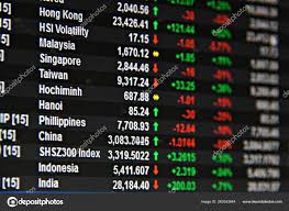 Business Finance Background Display Asia Pacific Stock