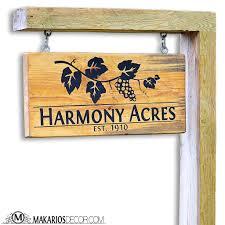 Wood Address Signs Outdoor Decor Custom Yard Sign Custom yard signs Driveways and Yards 17