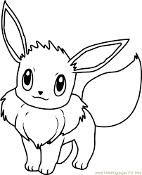 Small Picture Eevee Pokemon Coloring Page Free Pokmon Coloring Pages