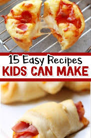 Is there a budding cook in your family? 15 Fun Easy Recipes For Kids To Make Clever Diy Ideas Fun Easy Recipes Easy Meals For Kids Kids Cooking Recipes