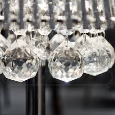 conical silver shade table lamp glass baubles