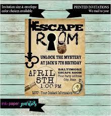Escape Room Party Invitation Template Escape Room Mystery Puzzle
