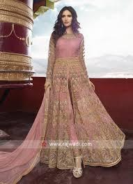 Front Open Salwar Designs Heavy Embroidered Front Open Slit Salwar Suit