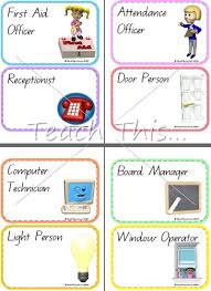 Class Charts Free Unique Classroom Chart Printable Job Chart Printable Blank