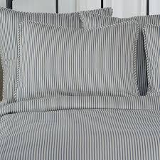standard pillow shams. Ticking Stripe Pillow Sham Navy Blue Standard Euro King Shams A