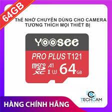 Thẻ nhớ Yoosee 64GB tốc độ cao, bảo hàng 12 tháng - thẻ đỏ