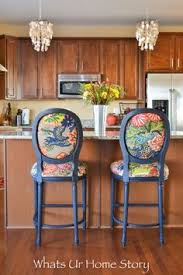 chair makeover with chiang mai dragon fabric
