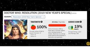 Image result for doctor who rotten tomatoes