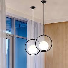 details about modern globe ceiling pendant light lamp glass shade metal home bar lamp