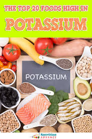 Potassium Rich Foods Chart Printable The Top 20 Foods High In Potassium Nutrition Advance