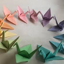 Paper Crane Size Chart 96 Origami Cranes Pastel Colors Japanese Paper Size S