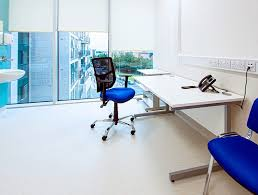 office blue. Since Valencia Eco Leather Comes In A Wide Selection Of Colours, This Wasn\u0027t Problem. For Their GP Rooms, Cost-effective, Long-lasting Solution Was Office Blue