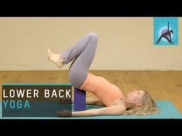 ekhartyoga yoga pose for lower back pain traction your back you need a yoga block or stack of books for this short yoga practice and