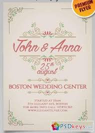 Wedding Invitation Flyer Template Beautiful Vintage Wedding ...